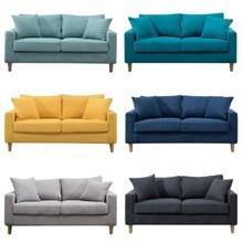 (小)沙发au楼单的美式ti市(小)长方形型宿舍店铺休息区理发店20。