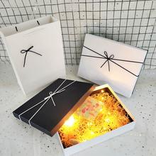 礼品盒au盒子生日围ti包装盒高档情的节礼物盒子 男生式ins风
