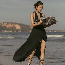 性感露au连衣裙20ti式女三亚旅游拍照海边度假沙滩裙长裙超仙