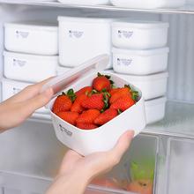 日本进au冰箱保鲜盒ty炉加热饭盒便当盒食物收纳盒密封冷藏盒