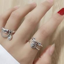 (小)众开au戒指时尚个tus潮酷韩款简约复古指环网红蹦迪食指戒女