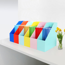 置物盒au习办公用品he面书架档案架文件座收纳栏书立框
