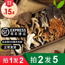 云南七aw野生菌汤包ji货羊肚菌茶树菇类煲汤食材山珍