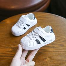 宝宝贝ax头婴儿软底lc一岁2男女童(小)白鞋加绒棉鞋秋冬季式