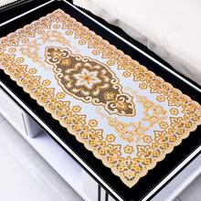 欧式paxc塑料镂空lc布防水防油防烫免洗茶几垫长方形桌垫餐垫
