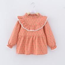 宝宝纯ax防水围裙罩lc反穿衣女孩长袖公主裙吃饭衣婴儿围兜