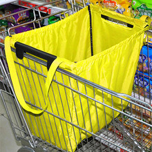 超市购ay袋牛津布折yu袋大容量加厚便携手提袋买菜布袋子超大