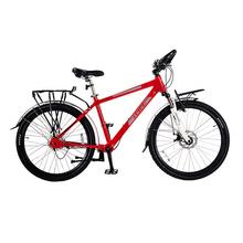 无链传ba轴无链条单yf动自行车超轻一体铝合金变速高速山地车