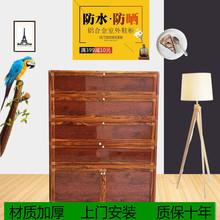 简易铝ba金阳台室外kl柜防水防晒楼道客厅组装家用大容量鞋柜