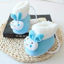 春秋冬ba式婴儿棉鞋an靴子3-10个月男女宝宝棉鞋保暖软底步前