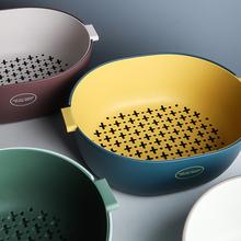 [badeh]舍里 双层塑料沥水篮厨房
