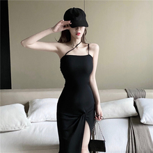 (小)性感ba播服装女直ge衣服夜 店装露肩夏天2019新式连衣裙子