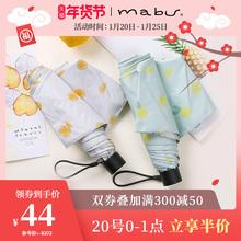 日本进ba品牌Mabra伞太阳伞防紫外线遮阳伞晴轻便携折伞
