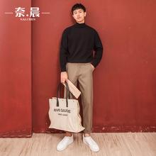 [bafoo]半高领毛衣男韩版2020