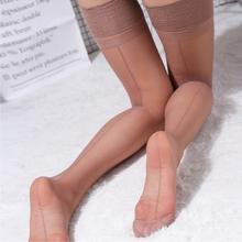 欧式复ba性感超薄带ng超薄透明美腿塑形大腿袜高筒袜