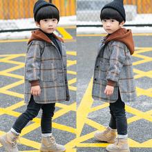 男童呢ba大衣202ia加厚外套冬装宝宝洋气加绒毛呢中长式童装潮
