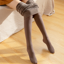 冬季加ba日系奶咖啡ao裤袜显瘦保暖踩脚一体裤灰色