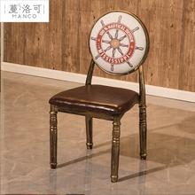 复古工ba风主题商用uo吧快餐饮(小)吃店饭店龙虾烧烤店桌椅组合