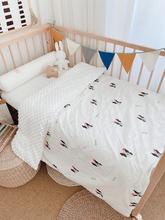 爱予宝ba秋冬宝宝婴zi毯宝宝绒棉被婴宝宝被子盖毯可拆洗豆被