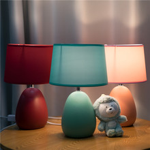 欧式结ba床头灯北欧ig意卧室婚房装饰灯智能遥控台灯温馨浪漫