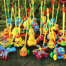 儿童婴儿宝宝(小)ba推车玩具推il杆手推飞机学步走路娃娃手推车