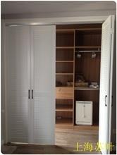 实木假ba叶折叠门衣ou叠门储藏室对开门衣柜移门衣柜柜体开门