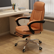泉琪 ba脑椅皮椅家an可躺办公椅工学座椅时尚老板椅子电竞椅