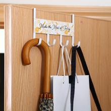 家用壁ba式卧室房门ei钉门上衣帽钩门后挂钩挂衣架衣服置物架