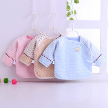 [baom]婴儿保暖纯棉提花无骨半背