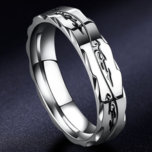 钛钢男ba戒指insdu性指环轻奢(小)众嘻哈单身食指男戒(小)指