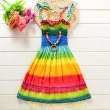 儿童沙滩ba夏海边度假ba童连衣裙春夏装2019新款洋气吊带裙子