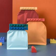 袋子封ba夹食品袋保kh封夹家用可爱塑料袋食物零食防潮(小)夹子