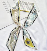 202ba新式(小)长条la能丝带发带绑包包手柄带飘带仿真丝领巾