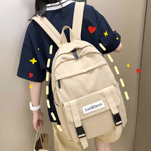 202ba新式时尚ioe书包女韩款ulzzang高中大学生双肩包初中生背包