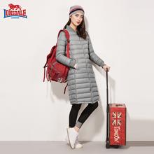 龙狮戴ba户外冬装新re长式立领纯色羽绒服232321113