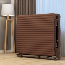 午休折ba床家用双的ag午睡单的床简易便携多功能躺椅行军陪护