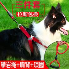边牧牵引绳胸ba带中(小)型犬hl套装边境牧羊犬遛狗绳牵狗绳