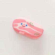 韩国潮式五花肉培根化妆包学生ba11爱女个hl毛绒笔袋文具盒