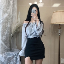 高腰包bc裙2019dn开口弹力紧身一步裙黑色包裙(小)性感半身裙女