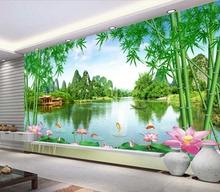 山水风景画bd2款自粘墙br画客厅电视背景墙画墙壁纸山清水秀