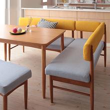 布艺沙be(小)户型日式rw椅组合转角咖啡厅单的双的实木沙发