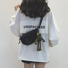 网红(小)be包女202rw韩款ins工装风帆布包女斜挎胸包休闲腰包潮