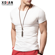 紧身tbe衫男短袖修la弹力体恤夏季男士纯棉白色半袖打底衫潮
