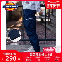 Dickies字母印花男友裤多be12束口休la新式情侣工装裤7069