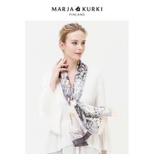 MARbeAKURKnu亚古琦真丝丝巾秋冬式洋气时尚百搭长式