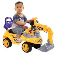 大号挖be机可坐可骑im电动玩具车可坐的工程车挖挖车耐摔儿。
