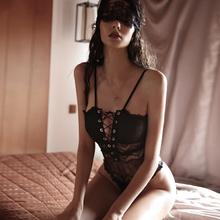 今夕何be 情调性感af衣女的蕾丝连体衣塑身透明诱惑内衣