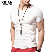 紧身tbe衫男短袖修li弹力体恤夏季男士纯棉白色半袖打底衫潮