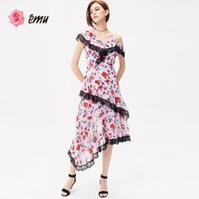 emube依妙女士裙on连衣裙夏季女装裙子性感连衣裙雪纺女装长裙