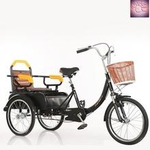 的力车bh轮自行车老jx车成的老年脚踩三轮车(小)型脚蹬脚踏(小)孩